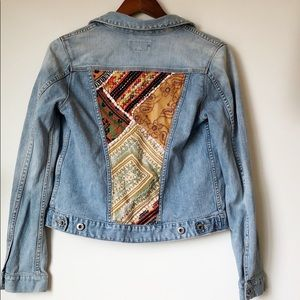 Lucky Brand Dixie Embroidered Jean Jacket Small